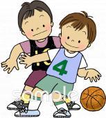 バスケットボールイラストなら小学校幼稚園向け保育園向けの