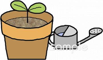 じょうろ 植木鉢イラストなら図書館小学校幼稚園向け保育園向け