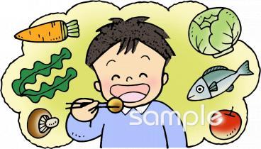 バランスのよい食事イラストなら図書館小学校幼稚園向け保育園
