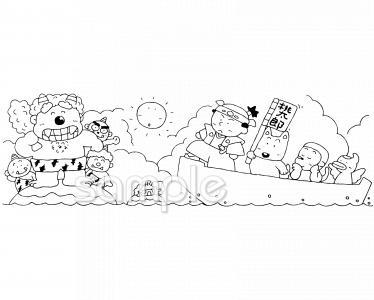 桃太郎イラストなら図書館小学校幼稚園向け保育園向けのかわいい