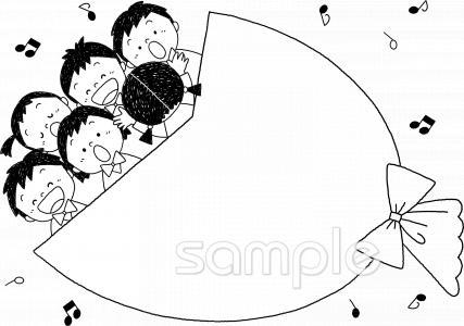 音符 こども 合唱イラストなら図書館小学校幼稚園向け保育園向け