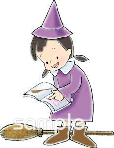魔女イラストなら図書館小学校幼稚園向け保育園向けのかわいい