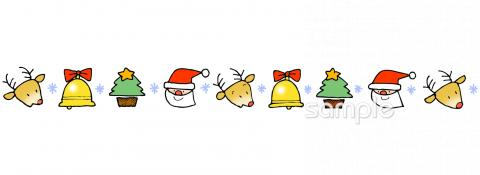 クリスマス 飾りラインイラストなら 小学校 幼稚園向け 保育園向けのかわいい無料イラストお試しフリー素材 カット がいっぱいの安心サイトへどうぞ