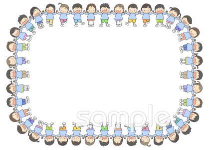 歓迎会 子ども 枠イラストなら小学校幼稚園向け保育園向け