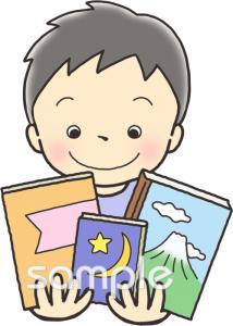 図書館 男の子イラストなら小学校幼稚園向け保育園向けのかわいい