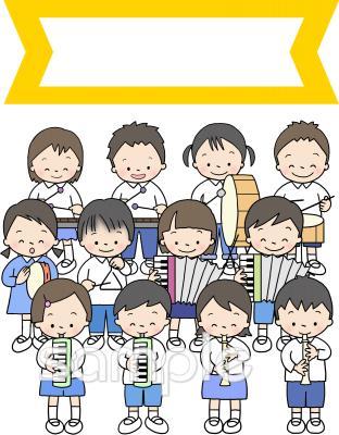 表紙 音楽会プログラムイラストなら小学校幼稚園向け保育園向けの