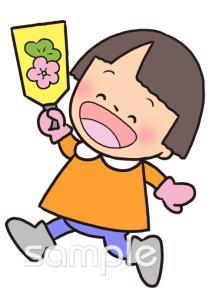 羽子板 女の子 1月の壁面飾りイラストなら 小学校 幼稚園向け 保育園向けのかわいい無料イラストお試しフリー素材 カット がいっぱいの安心サイトへどうぞ