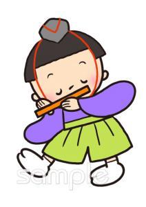 笛 五人囃子 3月の壁面飾りイラストなら小学校幼稚園向け保育園