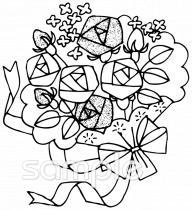 花束 バライラストなら小学校幼稚園向け保育園向け健康医療