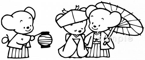 ねずみの嫁入りイラストなら小学校幼稚園向け保育園向け家庭向け